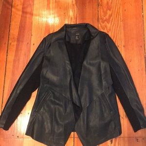 Forever21 Drape-y Faux Leather Jacket